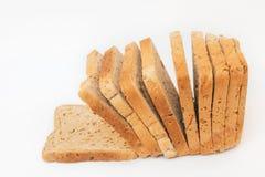 skivad white för bakgrund bröd Arkivfoton