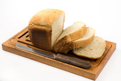 skivad white för bröd utgångspunkt Royaltyfri Fotografi