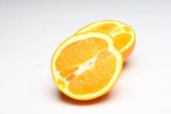 skivade apelsiner Arkivbild