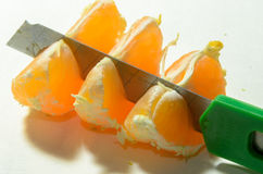 skivade apelsiner Arkivfoton
