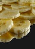 skivade bananer Fotografering för Bildbyråer