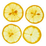 Skivade citroner Royaltyfria Foton