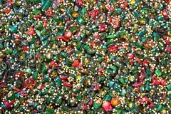 Skivade färgrika peppar Arkivfoton