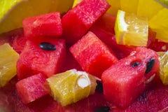 Skivade frukter Arkivfoto