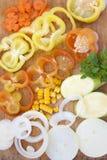 skivade grönsaker Royaltyfria Bilder