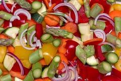 skivade grönsaker arkivfoton