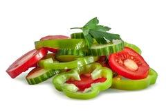 skivade grönsaker Arkivbild