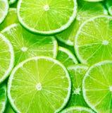 skivade nya limefrukter Fotografering för Bildbyråer