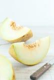 Skivade nya melon Royaltyfria Bilder