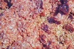 Skivade nytt kylt griskött i den till salu nya marknaden royaltyfri fotografi