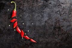 Skivade peppar för röd chili Arkivfoton