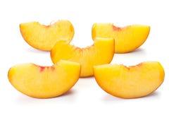 skivade persikor Arkivbild