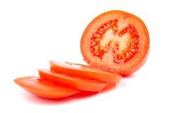 skivade tomater Arkivfoton