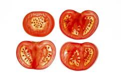 Skivade tomater Fotografering för Bildbyråer