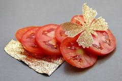 skivade tomater Arkivfoto