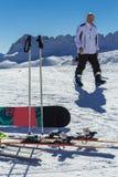 Skivakantie in Oostenrijk Royalty-vrije Stock Afbeelding