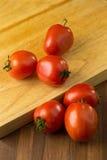 skivar tomater högg av tomater Sund mat för nya tomater Royaltyfria Foton