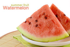 skivar vattenmelonen Arkivbilder