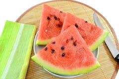 skivar vattenmelonen Royaltyfria Foton