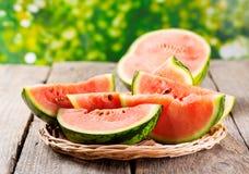 skivar vattenmelonen Arkivfoton