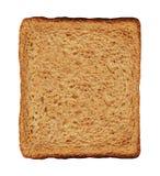 Skivarostat brödbröd som isoleras på en vit arkivfoton