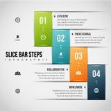 Skivastången kliver Infographic Royaltyfria Foton