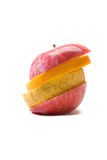 skivat äpple Arkivfoton