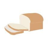 skivat bröd vektor illustrationer