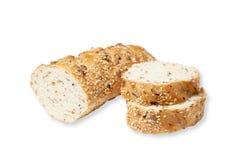 Skivat bröd med frö och korn Arkivbild