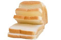 skivat bröd som isoleras Royaltyfri Fotografi