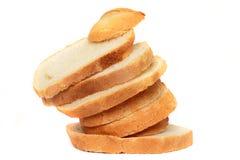 skivat bröd som ojämnt in ställs Royaltyfri Fotografi