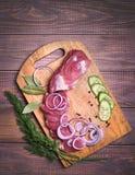 Skivat griskött för rått kött Royaltyfria Bilder