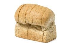 Skivat hemlagat brunt bröd Arkivbilder