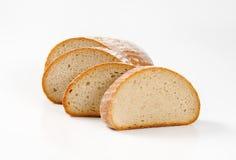 Skivat kontinentalt bröd royaltyfri fotografi