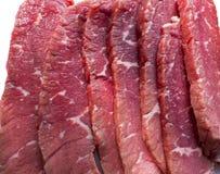 skivat rått för nötkött arkivbild