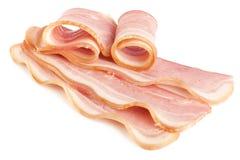 skivat smakligt för bacon pork arkivbilder