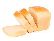 Skivat vitt bröd Arkivfoto