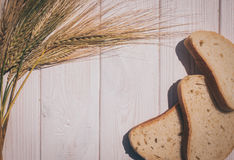Skivor av bröd- och rågöron Royaltyfria Foton