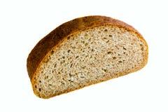 Skivor av bröd på vitbakgrund royaltyfria bilder