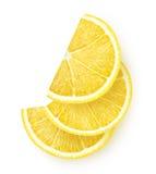 Skivor av citronen fotografering för bildbyråer