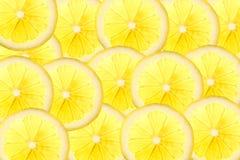 Skivor av citronen i stordia med kopieringsutrymme för din text royaltyfri fotografi