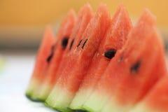 Skivor av den nya vattenmelon Royaltyfria Foton
