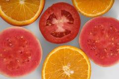 Skivor av frukter Arkivbild