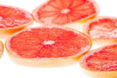 Skivor av grapefrukten Royaltyfria Foton