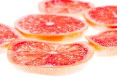 Skivor av grapefrukten Arkivbild