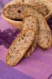Skivor av hemlagat bröd Fotografering för Bildbyråer