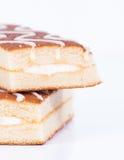 Skivor av kakan Royaltyfri Bild