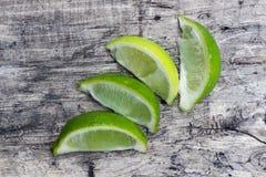 Skivor av limefrukt Royaltyfria Foton