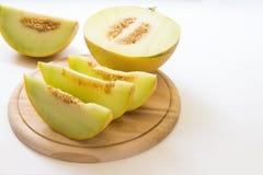 Skivor av melonen Arkivbild