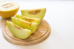 Skivor av melonen Fotografering för Bildbyråer